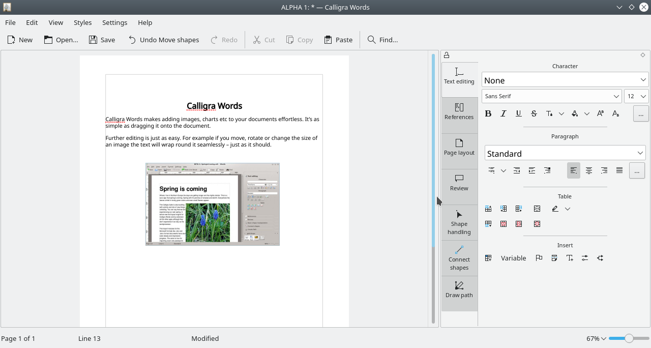 Calligra Office Linux